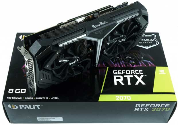 Carte graphique Palit GeForce RTX 2070 GameRock Premium
