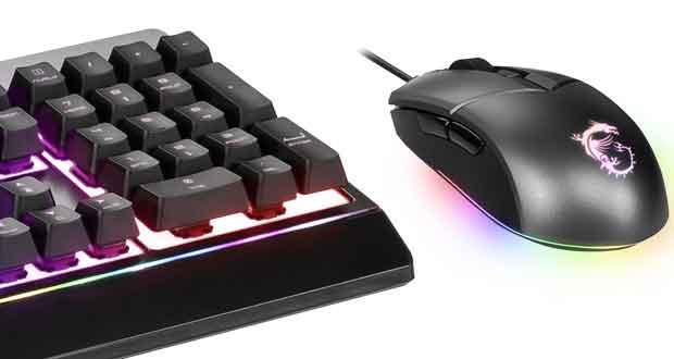 Kit clavier/souris gaming VIGOR GK30 et CLUTCH GM11 de MSI