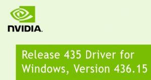 Drivers GeForce 436.15 WHQL de Nvidia