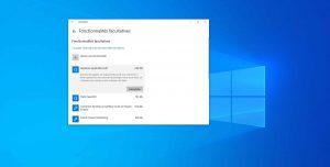 Windows 10 v1903 – Gestionnaire des fonctionnalités facultatives
