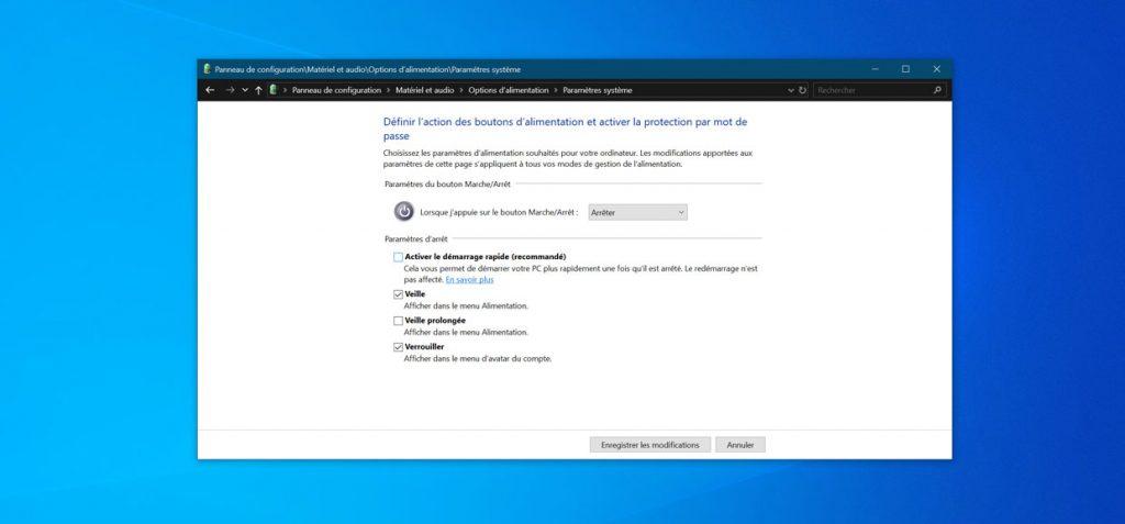 Windows 10 et le panneau de configuration