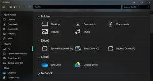 Concept Design de l'explorateur de fichiers de Windows 10
