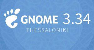 Environnement de bureau GNOME 3.34