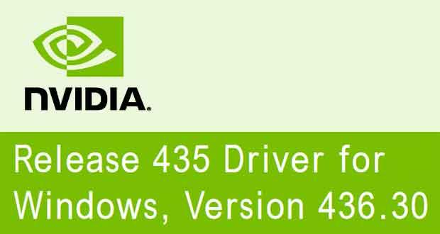 Pilotes graphiques GeForce 436.30 WHQL de Nvidia