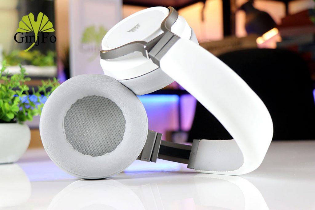 Casque gaming Virtuoso RGB Wireless White de Corsair