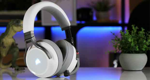 Casque gaming Virtuoso RGB Wireless White de Corsair