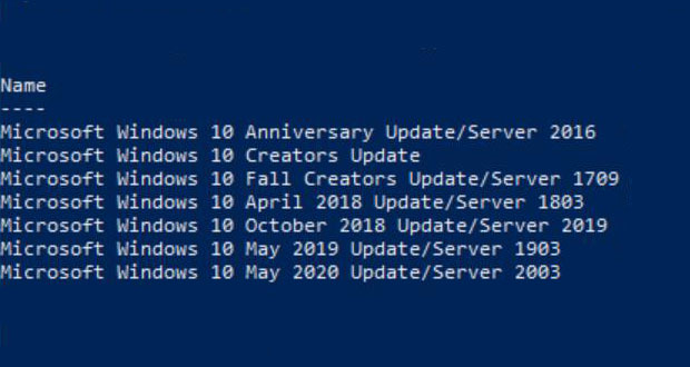Windows 10 20H1 alias May 2020 Update