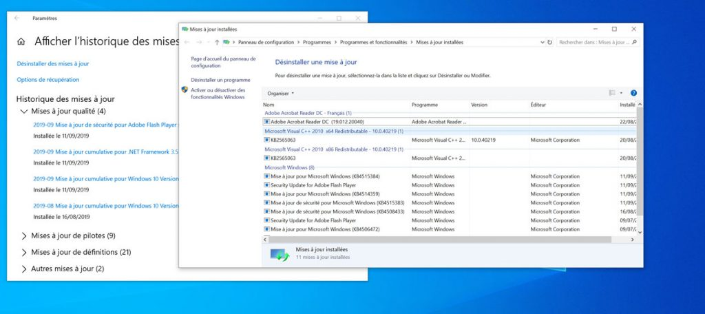 Windows 10 v1903 et le bug audio