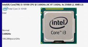 Core i3-10100 – Base de données de SiSoft Sandra