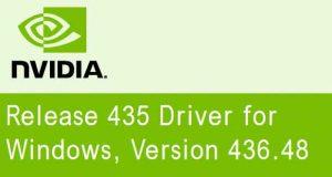 Drivers graphiques GeForce 436.48 WHQL de Nvidia