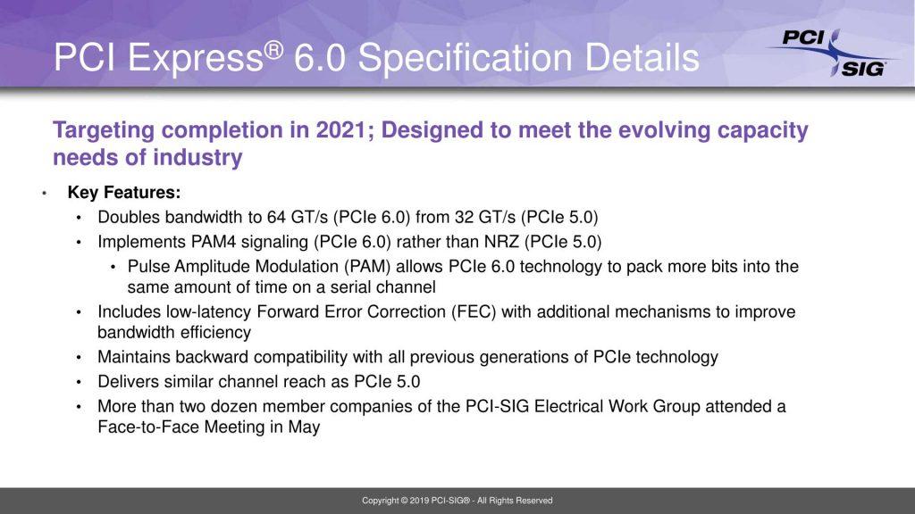 Le PCI SIG annonce le PCIe 6.0 pour 2021