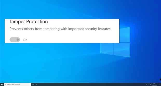 Windows 10 et la « Tamper Protection »