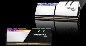 Kits mémoire Trident Z Royal et Trident Z Neo de G.Skill