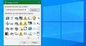 Windows 10 et ses icones modernes et anciennes
