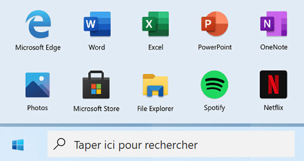 indows 10, l'icône du Menu Démarrer de Windows 10X (Credits : GinjFo)