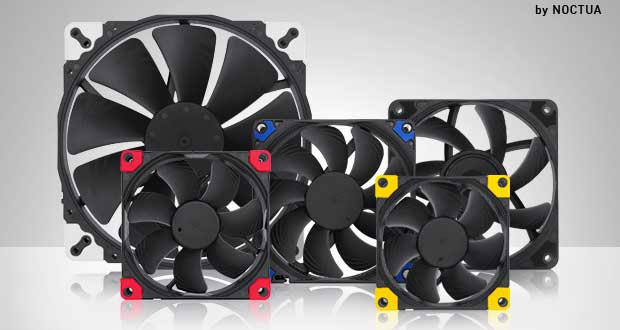 Ventilateurs Chromax.black.swap de Noctua