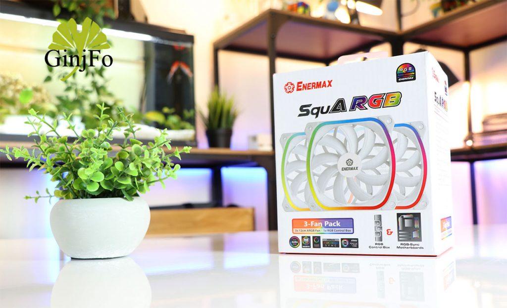 SquA RGB White - Pack CSQARGB12P-W-BP3