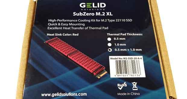 Dissipateur M.2 22100 SubZero M.2 XL de Gelid
