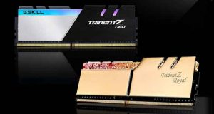 Kits Quad Channel 256 Go Trident Z Royal et Trident Z Neo