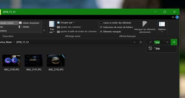 Windows 10 v1909 - l'explorateur de fichiers et la recherche