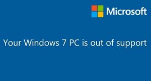 Windows 7 et la notification « Your Windows 7 PC is out of support »