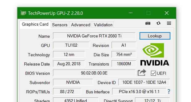 Utilitaire GPU-Z v2.28