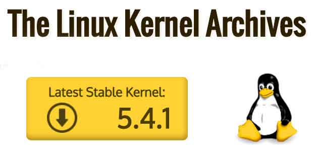 Noyau Linux 5.4.1