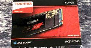 SSD Kioxia RC500 500 Go de Toshiba