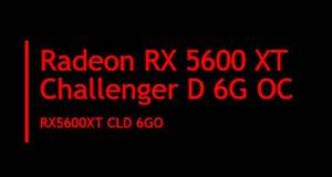 Radeon RX 5600 XT Challenger D 6G OC d'ASRock