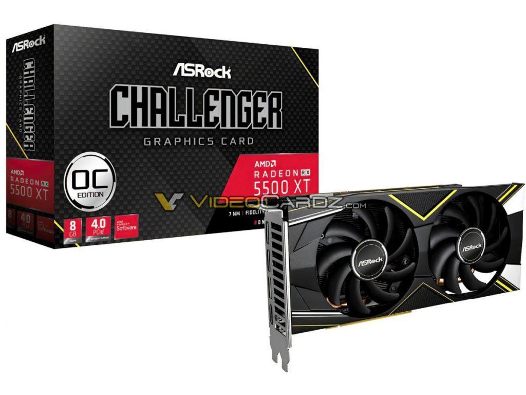 Radeon RX 5500 XT Challenger OC Edition d'ASRock