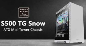 Boitier Thermaltake S500 Tempered Glass Snow Edition