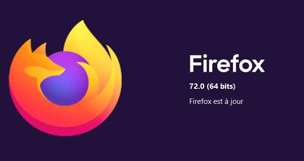 Navigateur Firefox 72 de Mozilla
