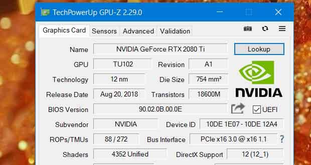 Utilitaire GPU-Z v2.29