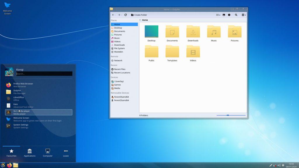 Environnement de bureau KDE Plasma
