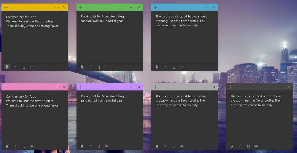 Windows 10 - Mises à jour de Sticky Notes