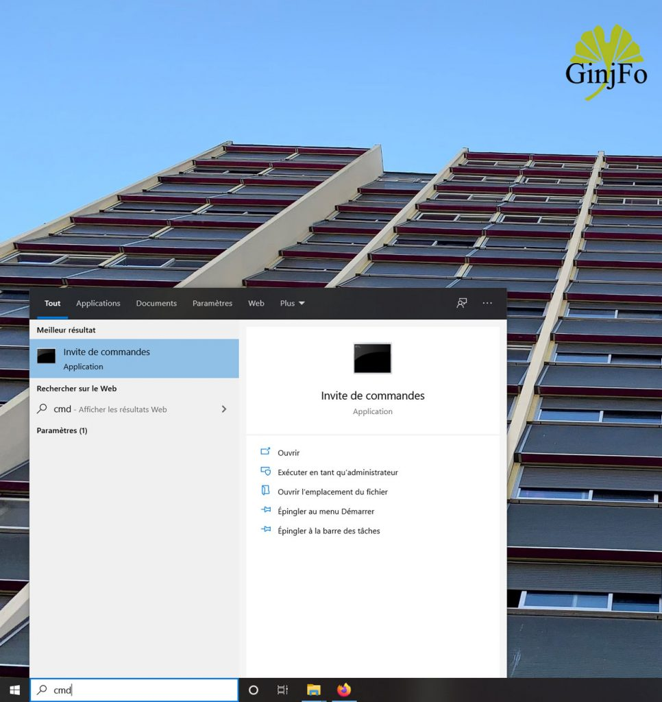 Windows 10 et l'invite de commandes