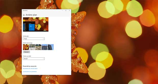 Windows 10 et l'arrière-plan
