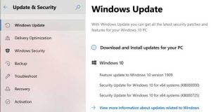 Windows 10, concept « Windows Update »