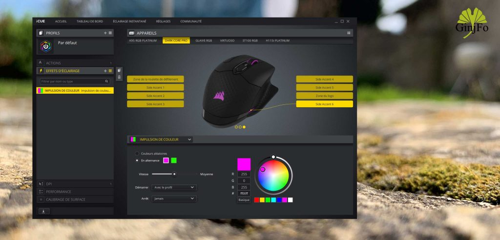 Souris gaming Dark Core RGB Pro de Corsair