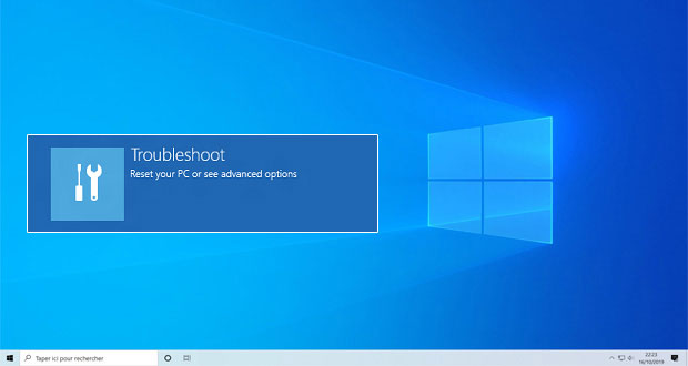 Windows 10 et le Windows Recovery Environment (WinRE)