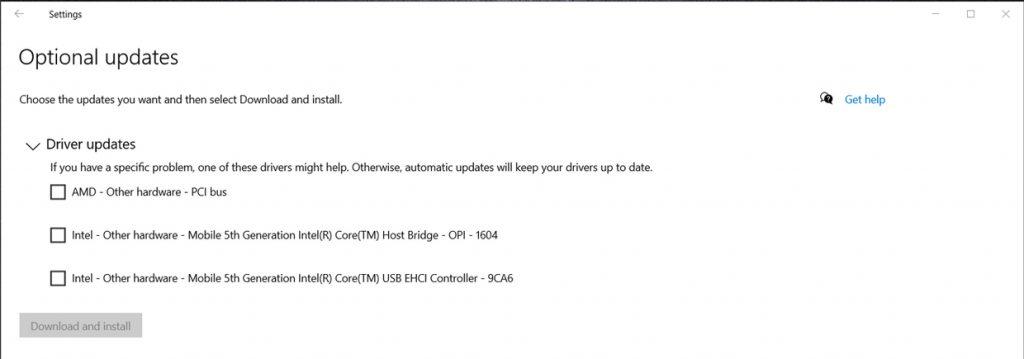 Windows 10 et les mises à jour optionnelles