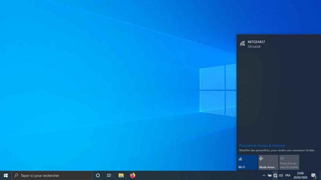 Windows 10 et lla détection des réseaux sans fil Wi-Fi