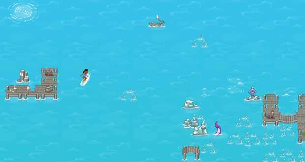 Microsoft Edge et le jeu Surf