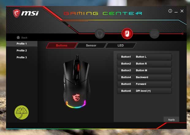 Souris gaming Clutch GM50 de MSI