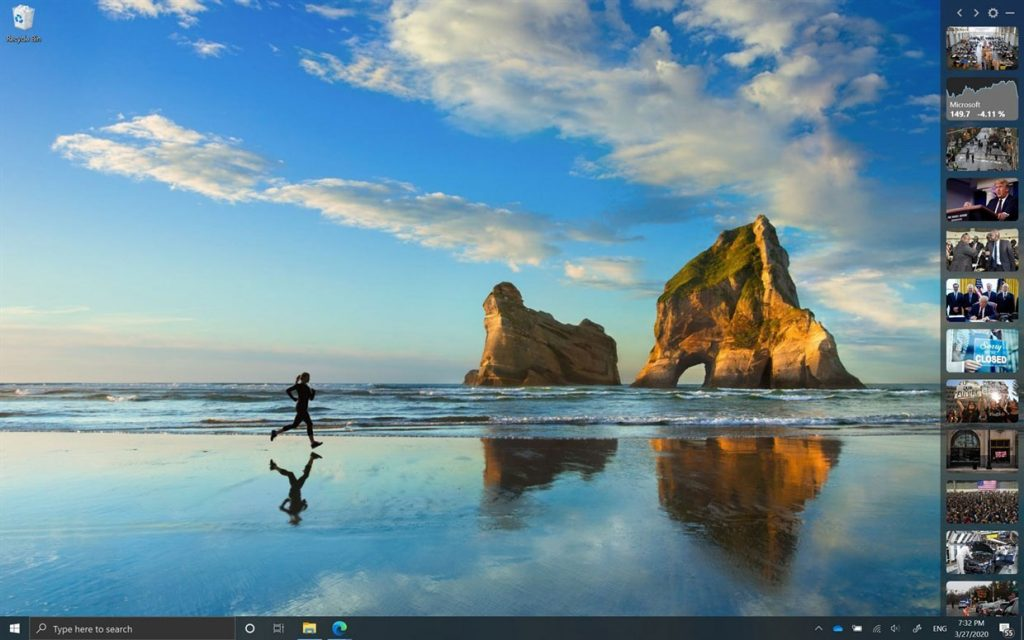 Application News Bar de Microsoft pour Windows 10