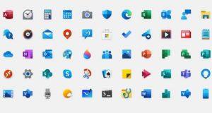 """Les nouvelles icônes """"Fluent Design"""" de Windows 10"""