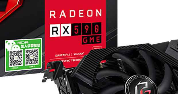 Radeon RX 590 GME Phantom Gaming 8G OC Edition d'ASRock