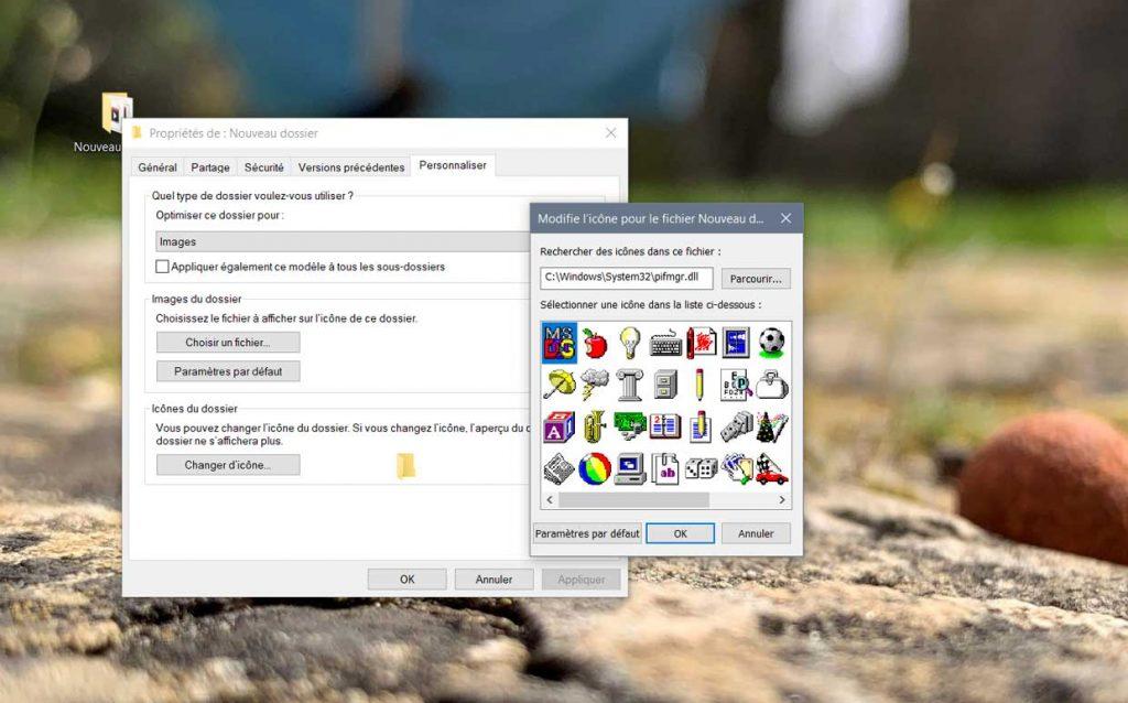 Windows 10 et les différentes générations d'icônes.