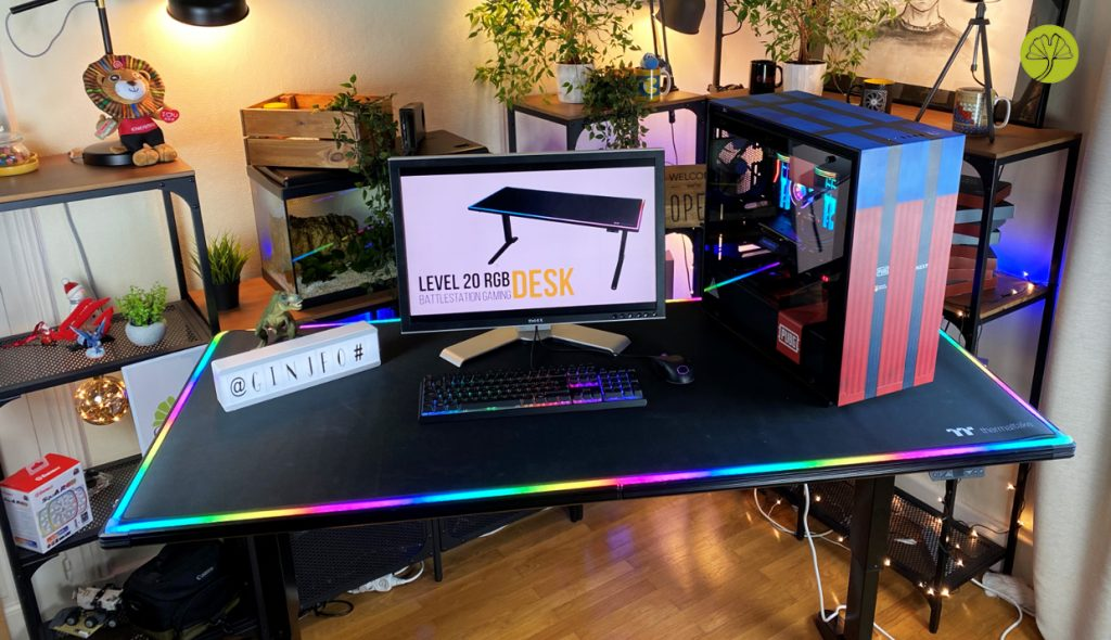 Bureau gaming Level 20 BattleStation RGB Gaming Desk de Thermaltake