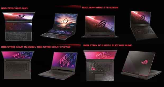 PC portables gaming ROG d'Asus - Avril 2020
